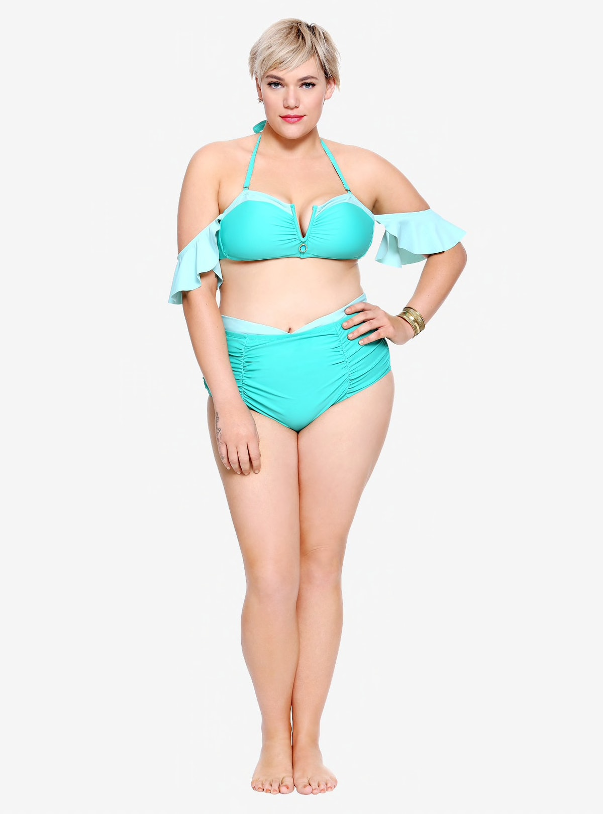 Disney Aladdin Jasmine Plus Size Off-The-Shoulder Swim Top