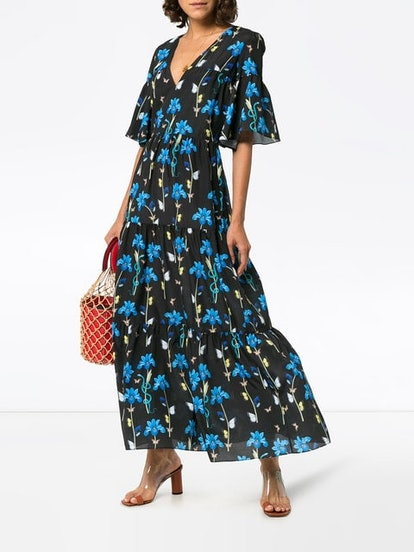 Teodora Floral Print Maxi Dress
