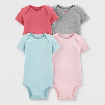 Baby Girls' Bodysuits (4 Pack)