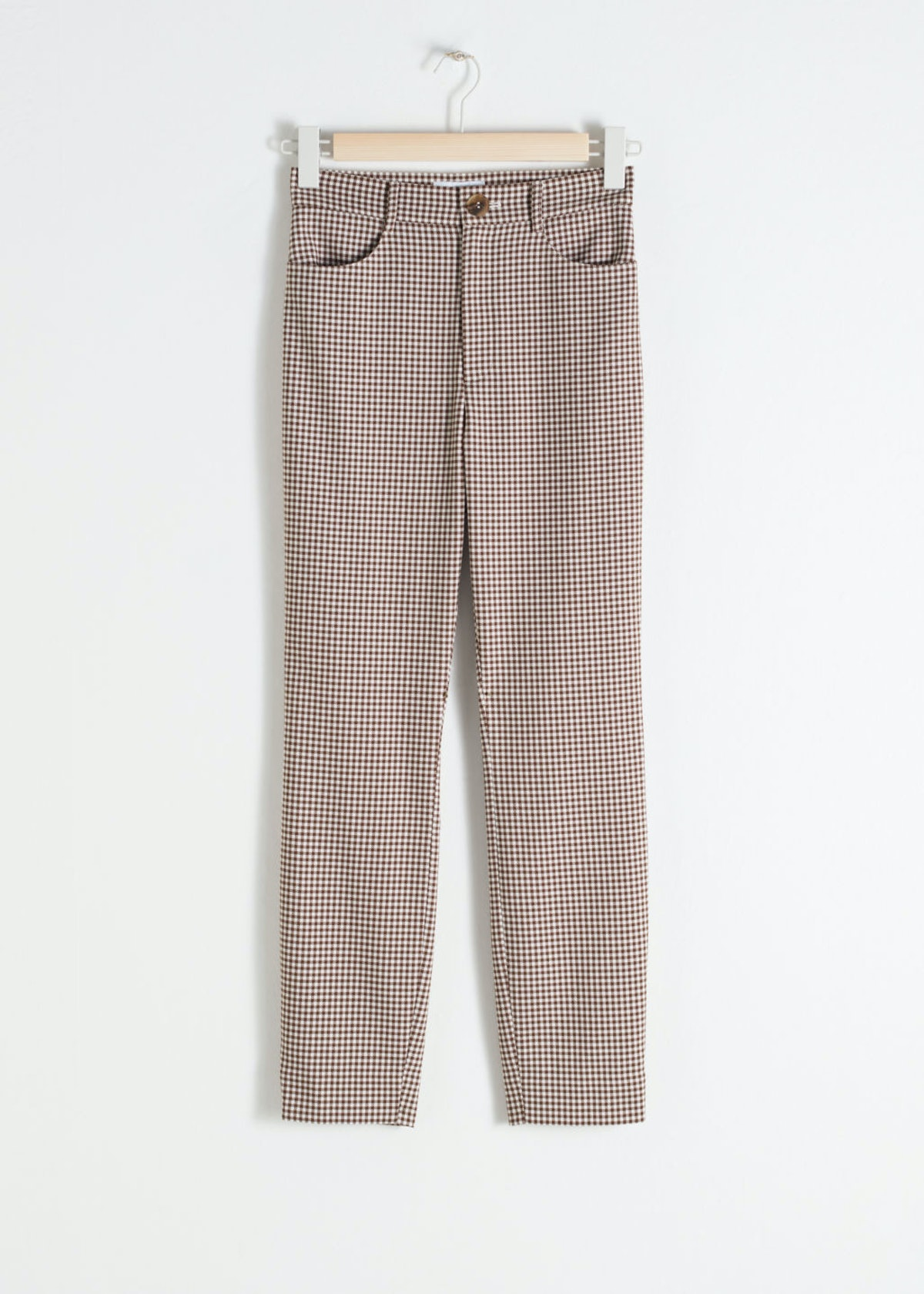 High Waist Gingham Pants
