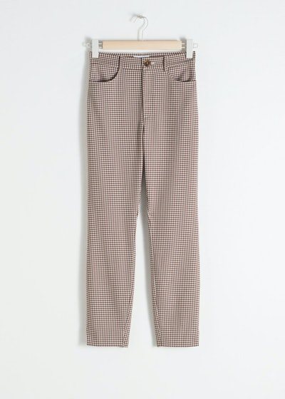 High Waist Gingham Pants