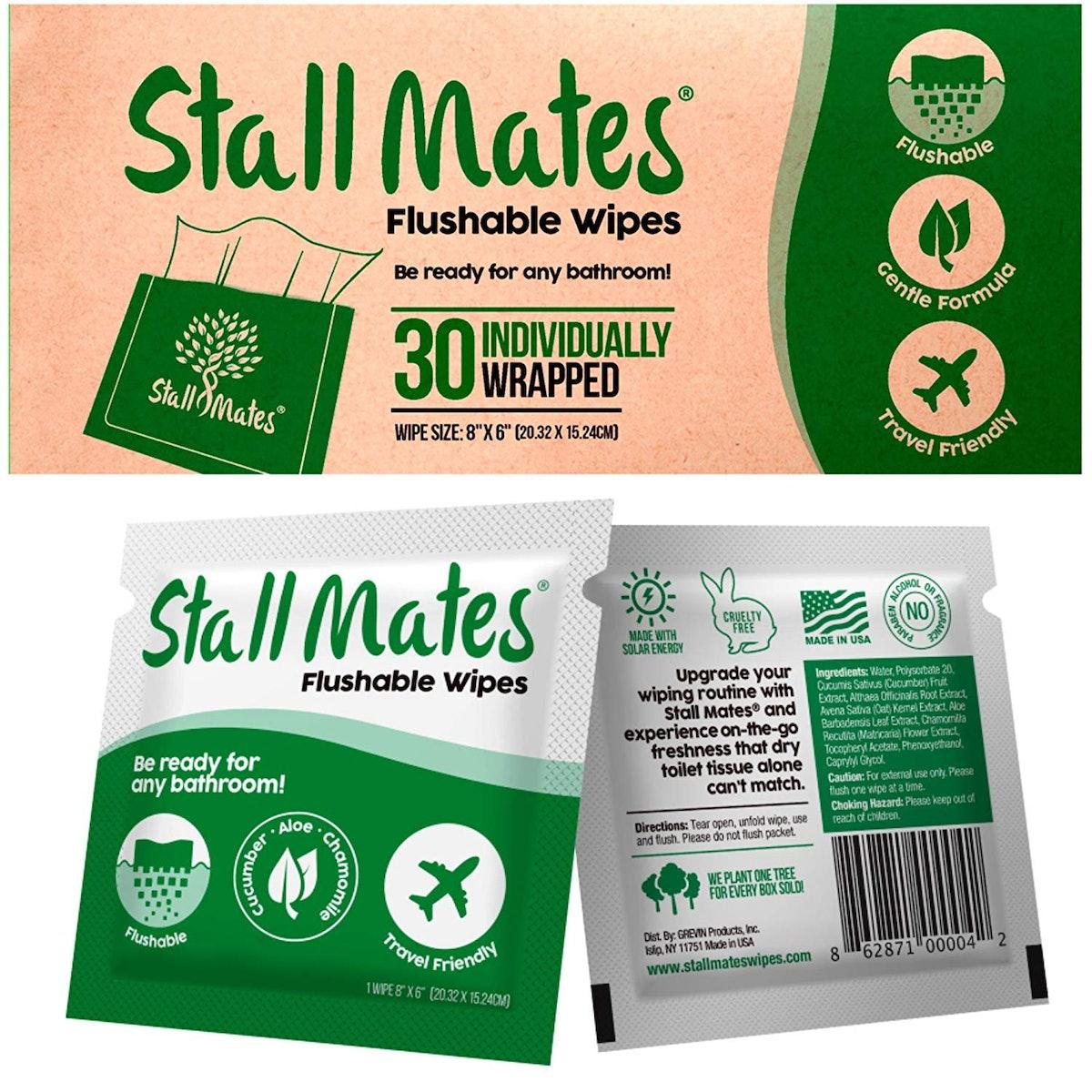 Stall Mates Flushable Wipes