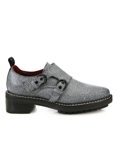 Konrad Monk Strap Embossed Leather Oxfords