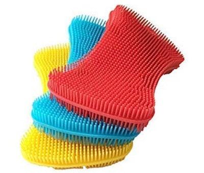 AKop Silicone Sponge Dish Washing Kitchen Scrubber (3 Pack)