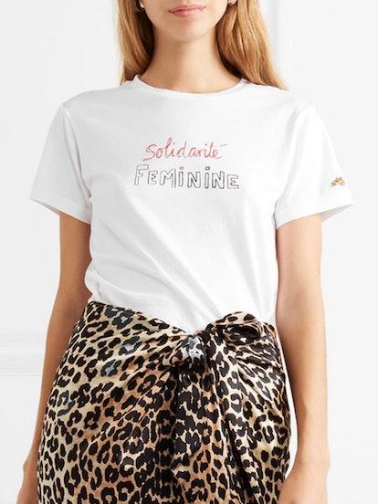 Solidarite Feminine Printed Cotton-Jersey T-shirt