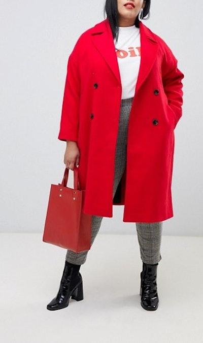 Vero Moda Double Breasted Overcoat