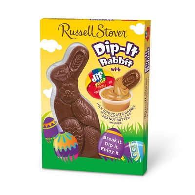 Solid Milk Chocolate Dip-It Rabbit with Jif Peanut Butter Dip
