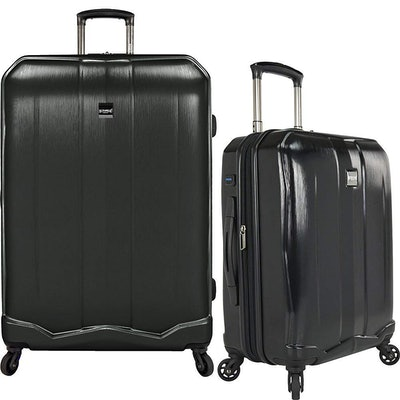 U.S Travelers Piazza 2-Piece Expandable Luggage Set