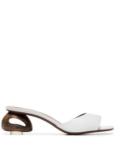 White Liparis 55 Leather Sandals