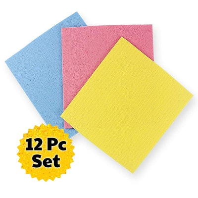 The Crown Choice No Odor Sponge Cloth (12 Pack)