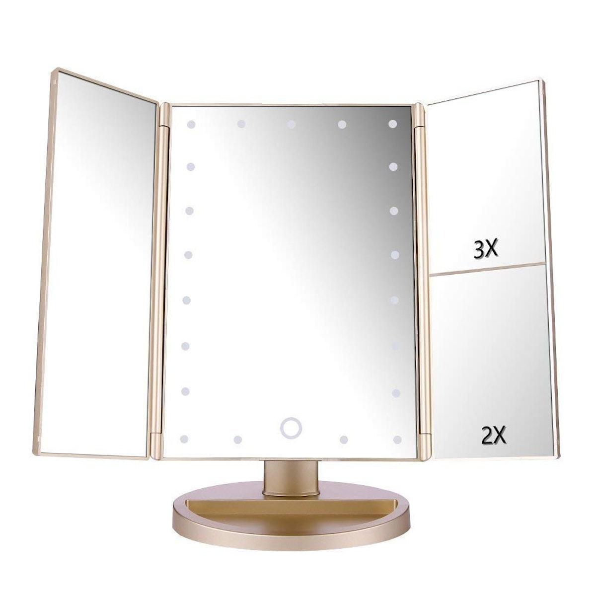 DeWEISN Lighted Makeup Mirror
