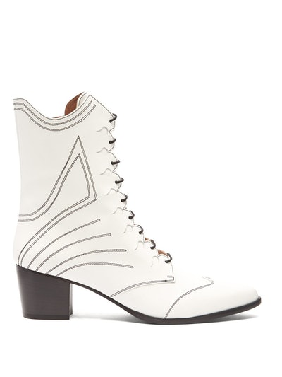 Swing Lace-Up Leather Boots