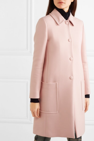 Wool-Blend Drill Coat