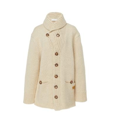 Oversized Wool Mohair Shawl Cardigan