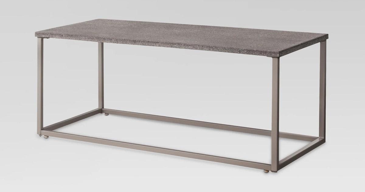 Sensational Threshold Heatherstone Metal Patio Coffee Table Machost Co Dining Chair Design Ideas Machostcouk