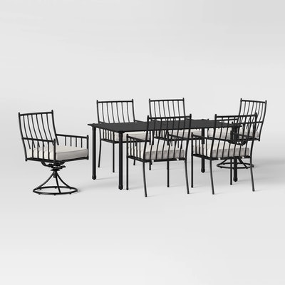 Threshold™ - Fernhill 7pc Mix & Match Patio Dining Set - White