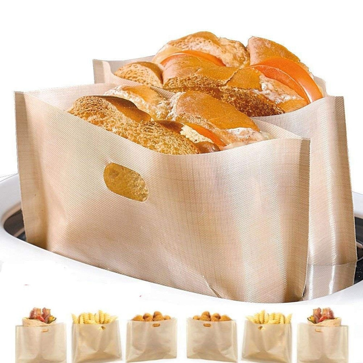 YOOCOOL Reusable Toaster Cooking Bags