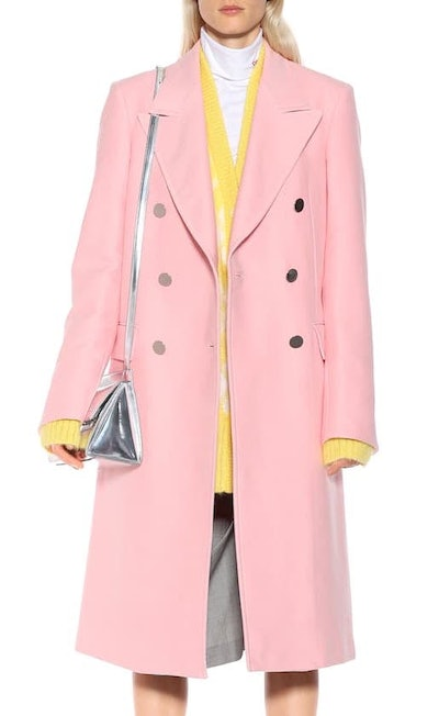 Cotton Double-Breasted Coat