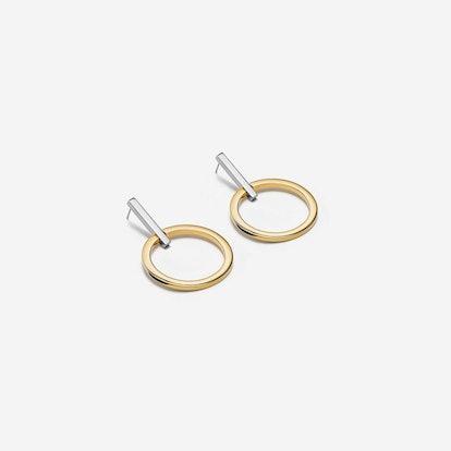 Antonia Two Tone Hoop Earrings
