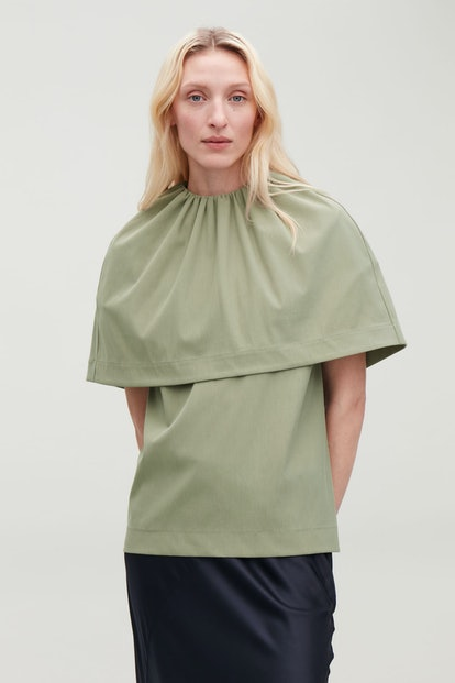 Jersey Top With Cape Layer