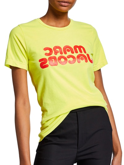 Short-Sleeve Backwards-Logo Graphic Tee