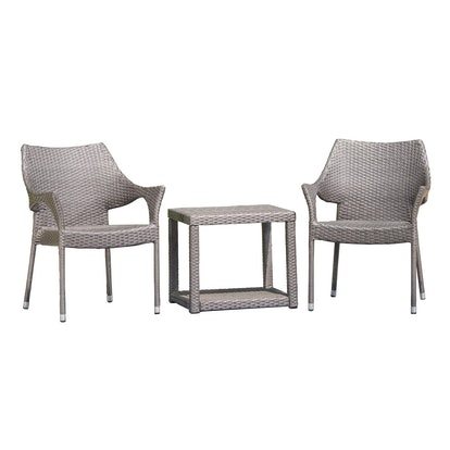 Christopher Knight Home - Astoria 3pc Wicker Chat Set