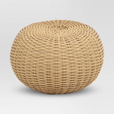 Threshold™ - Wicker Patio Pouf - Brown