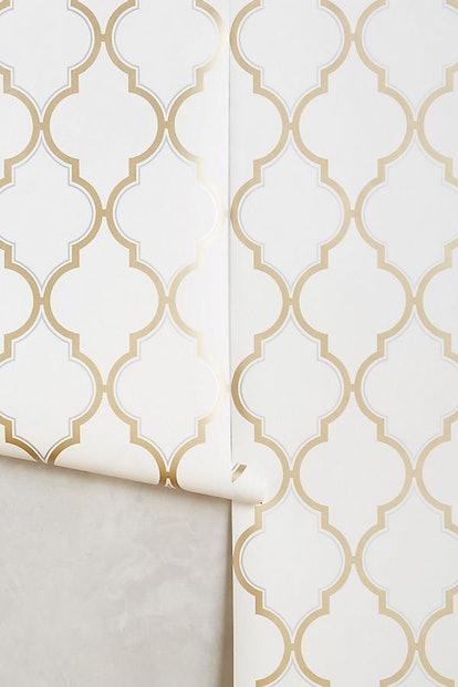 Golden Trellis Wallpaper