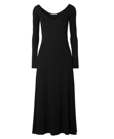 Cotton Jersey Midi Dress