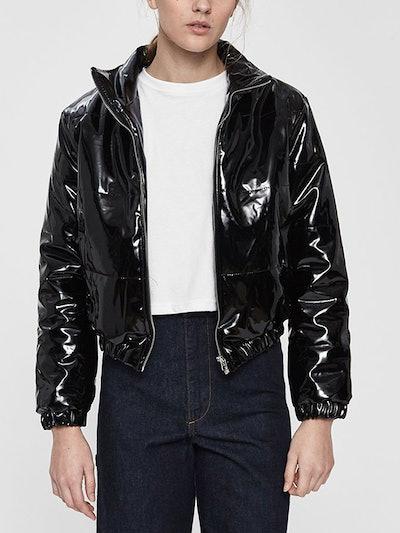 Charlotte Patent Puffer Jacket