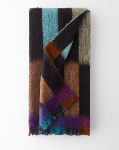 Mantas Ezcary Domino Mohair-Blend Throw Blanket