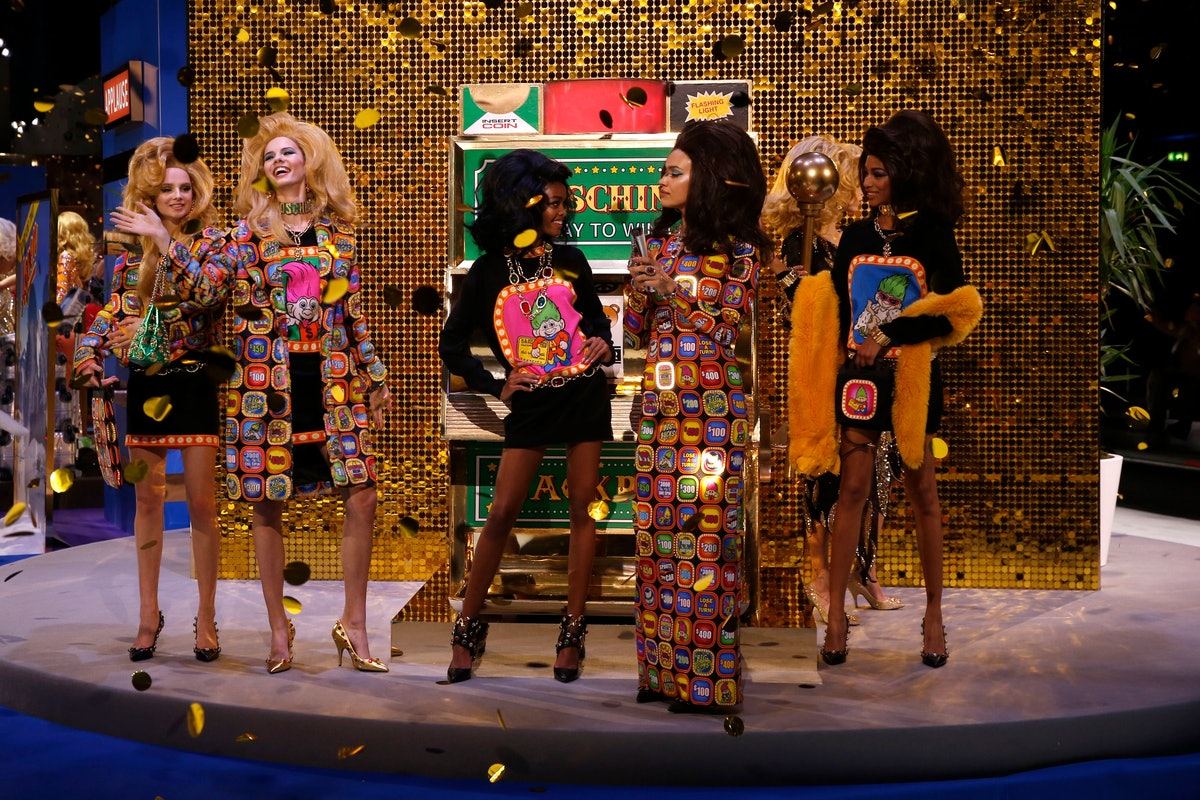Moschino's Fall 2019 Collection At Milan Fashion Week Was Inspired By A Classic Game Show