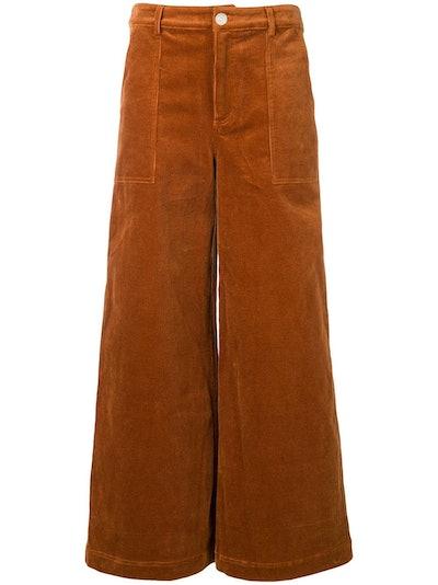 Wide Leg Corduroy Trousers
