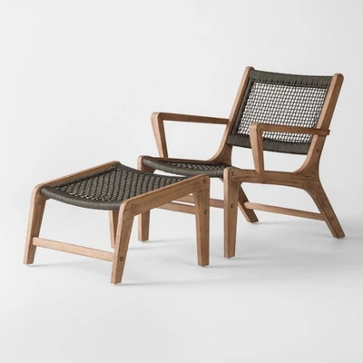 Project 62™ - Oceans 2pc Wood & Rope Patio Club Chair & Ottoman Set
