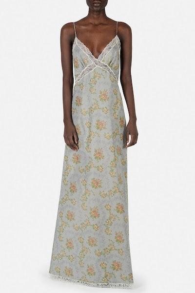 Abito Onorina Lace Trim Slip Dress