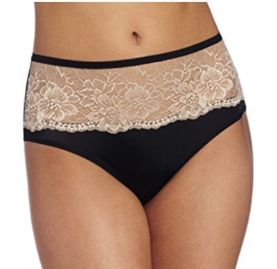 Bali One Smooth U Comfort Indulgence Satin With Lace Hipster Panty (Sizes 5-9)