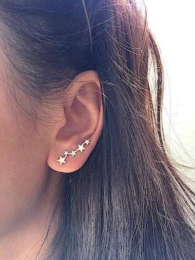 Star Ear Crawler Earrings