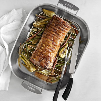 All-Clad Stainless-Steel Flared Roasting Pans