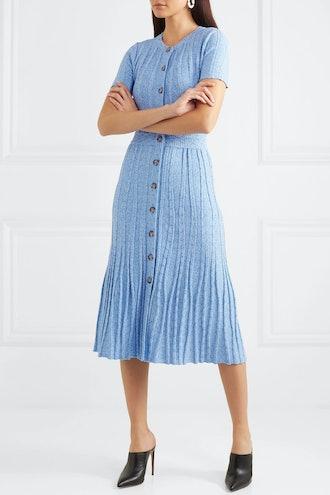 Abelia Ribbed-Knit Midi Dress