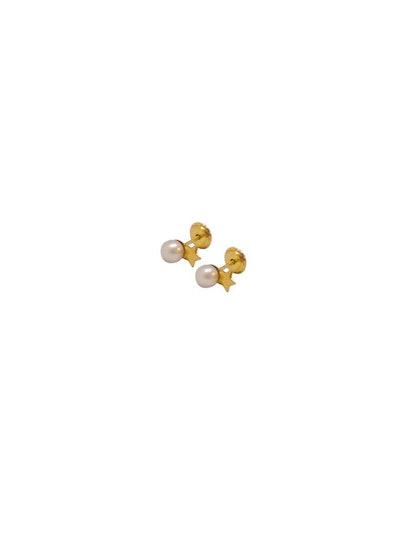Mini Star Pearl Earpins