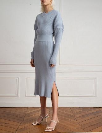 Pale Blue Knit Matching Set