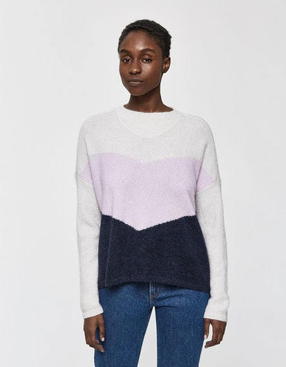 Just Female Herle Knit Sweater in Lavender Frost