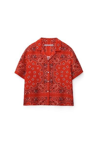 Bandana Print Hawaiian Shirt