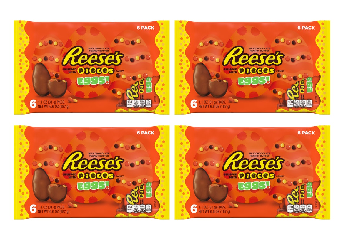 These Reese's Eggs Stuffed With Reese's Pieces Will Up Your Candy Game This Easter