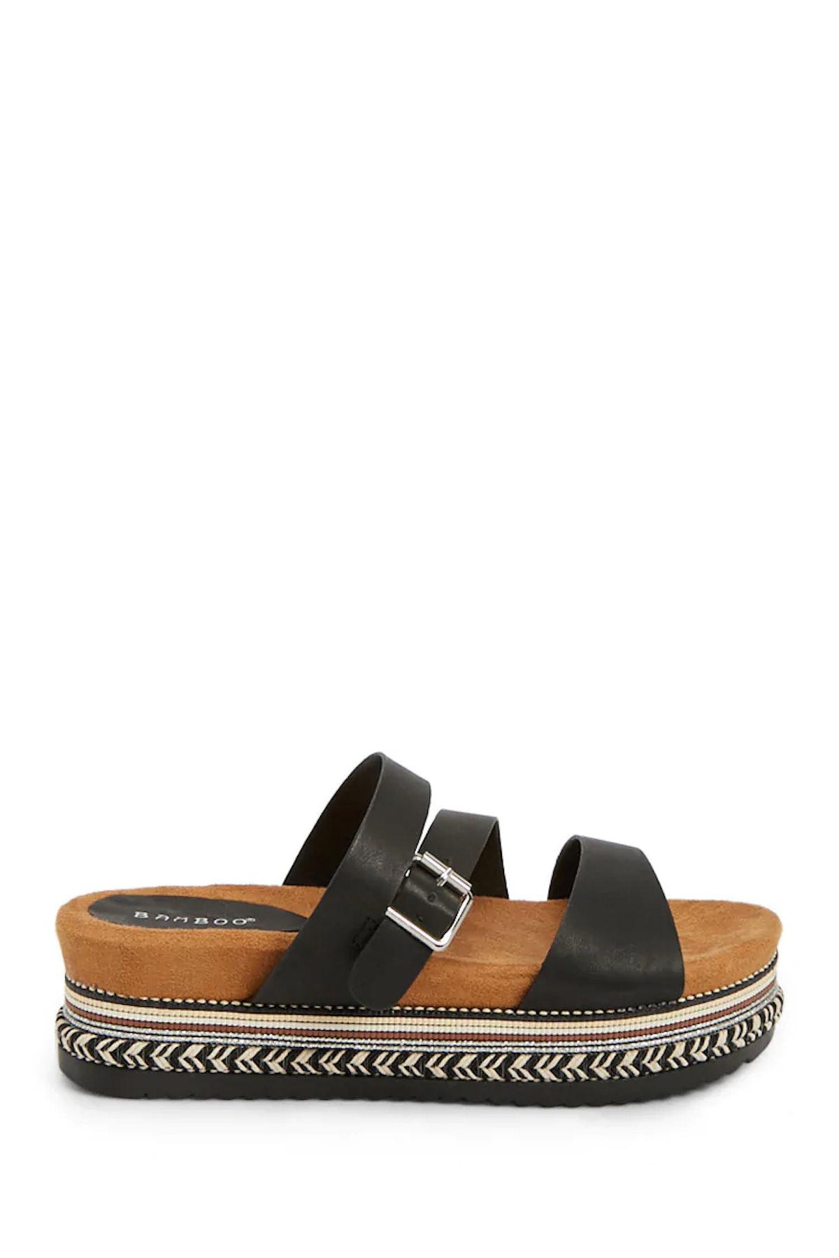 Embellished Platform Espadrille Sandals