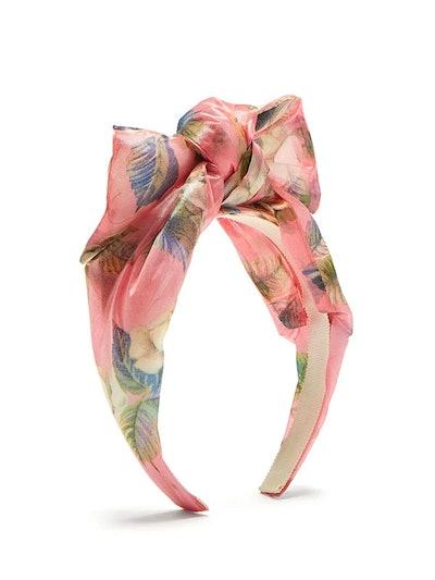 Luce Floral-Print Bow Headband