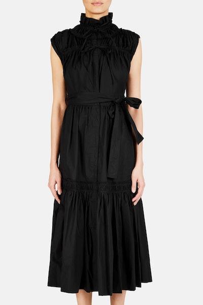 Cotton Poplin Long Dress