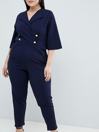 Plus Tailored Jumpsuit In Navy