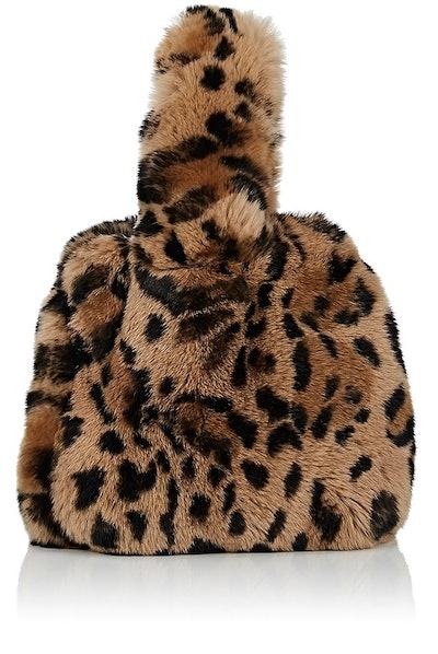 Rabbit Fur Wristlet Bucket Bag
