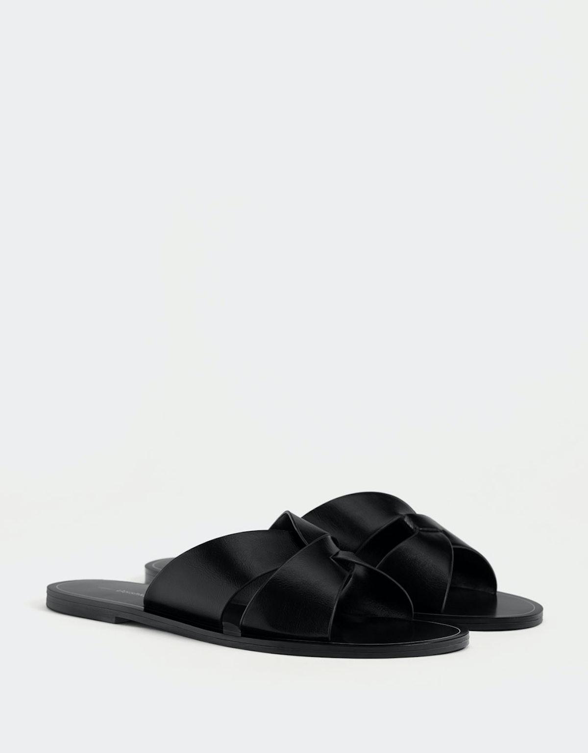 Criss-cross strap slides
